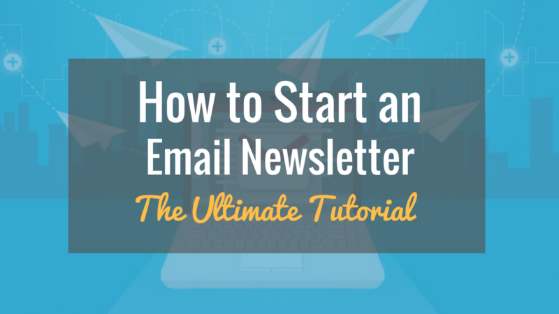 how to start an email newsletter