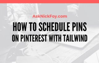 HOW TO SCHEDULE PINS ON PINTEREST WITH TAILWIND