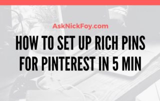 HOW TO SET UP RICH PINS FOR PINTEREST ACCOUNT